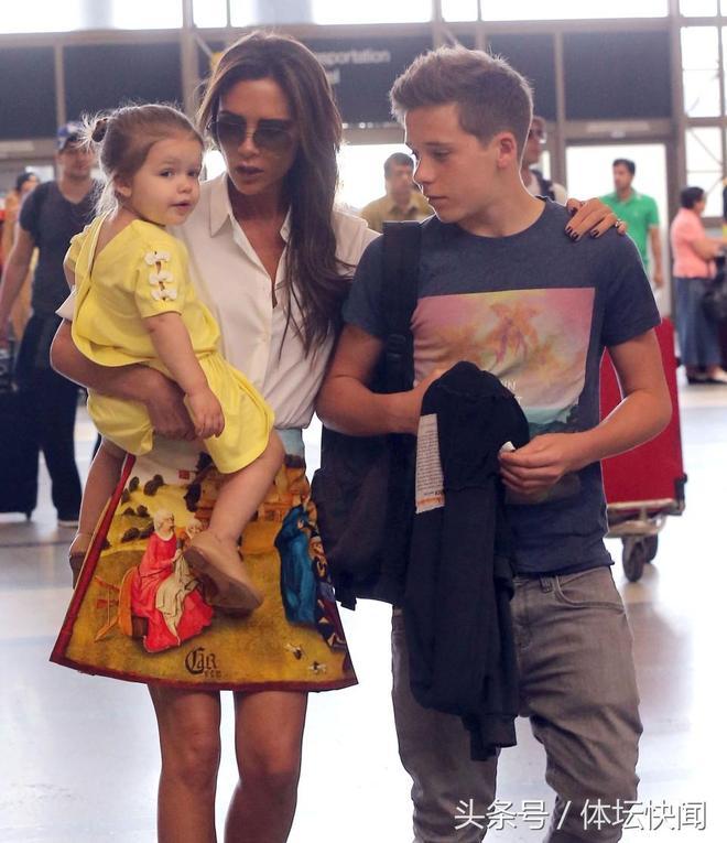 貝克漢姆一家是時尚的風向標,唯獨貝小七能穿出一年四季
