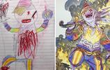 爸爸把兒子塗鴉變成超帥動漫角色,再亂的畫也變得炫酷無比