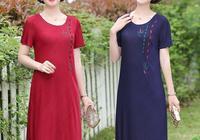 """建議670後女人,出門穿這""""大碼""""連衣裙,遮肉顯瘦又減齡"""