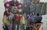 《變形金剛》直擊精髓的勾線霸天虎、汽車人筆鋒彩色圖集-附組合戰隊金剛和亂入的不知道那個版本
