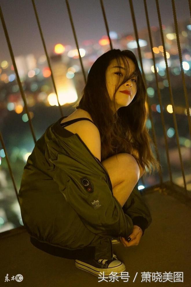 夜色中的倪妮