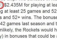 鮑比-馬克斯曝光內內1000萬年薪的三項激勵條款,火箭52勝成關鍵,你怎麼看?