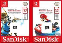 任天堂和西部數據聯合推出任天堂Switch存儲卡