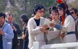 老照片:1985年《紅樓夢》拍攝現場,圖3林黛玉憂鬱的神情太美了