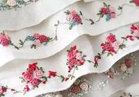「刺繡作品」玫瑰花捲針刺繡大全