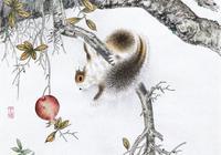 河北滄州 劉鴻升 工筆松鼠、花鳥畫14幅,請欣賞,感謝點贊轉發