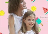 """11歲西班牙公主好受寵,和媽媽穿""""母女裝"""",姐姐萊昂諾爾落單了"""