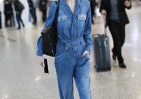 不穿緊身褲的魯豫原來這麼美,機場一條寬鬆連體褲,少女感十足