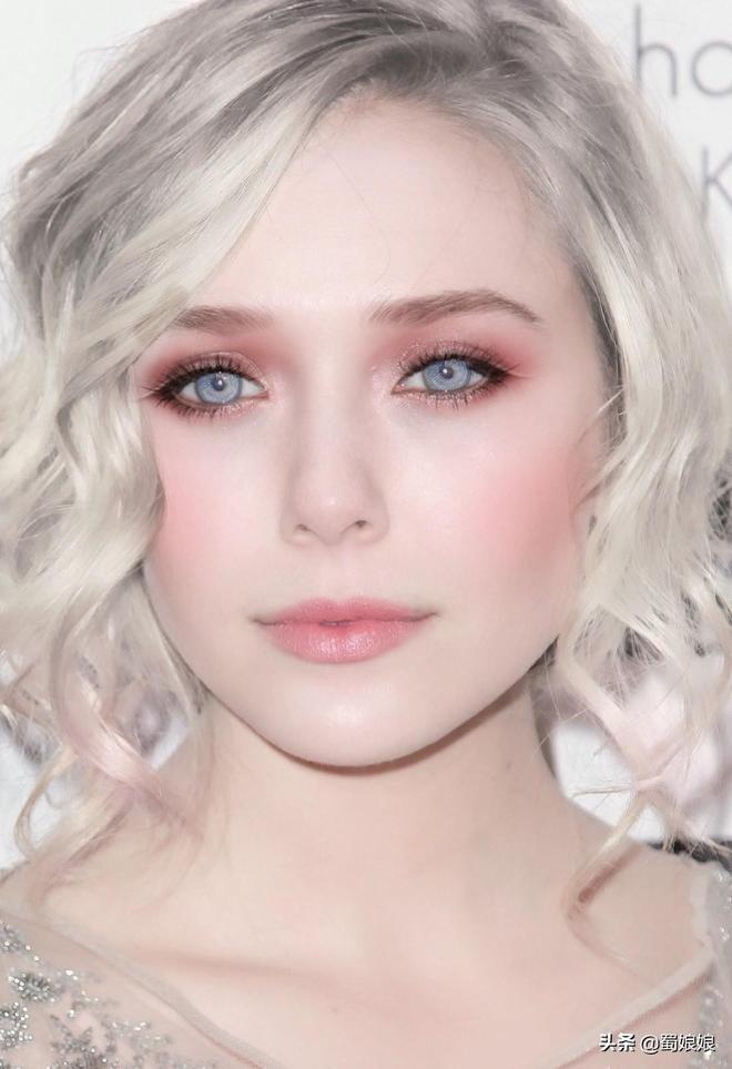 伊麗莎白·奧爾森:銀髮藍眼,這張精靈臉,多看一眼都是褻瀆