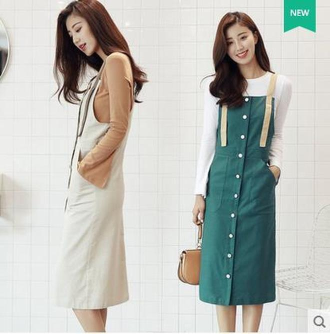 秋季新款兩件套連衣裙中長款條紋a字裙女吊帶網紗大擺裙套裝