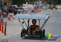 塞浦路斯舉辦太陽能車賽 選手駕駛各式小車上路