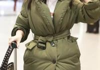 王媛可與霍思燕同穿軍綠色羽絨服,一個少女感爆棚一個性感爆棚