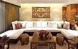一組中式客廳裝修,古樸自然,典雅大氣