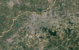 同一比例尺下中國二十大城市衛星圖,一線二線城建差距果然大