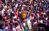 尼泊爾色彩斑斕的色彩節,上帝也為之瘋狂