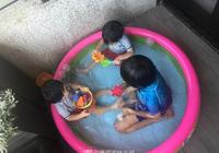 林志穎晒三寶貝近照,Kimi陪弟弟們玩水超有愛