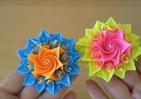漂亮的多邊紙花,做法簡單,上手容易,手工摺紙教程