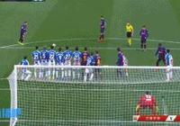 梅西用進球告訴世人:任意球還能這麼踢!理性討論,如果那球后衛沒碰到,是否會進?