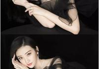 景甜真古典氣質,穿一襲黑色薄紗裙,膚白貌美一看就是富家千金