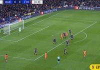 半場-巴薩2-0里昂,蘇神造兩球,梅西勺子點射