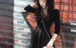 2017新款秋裝顯瘦a字v領中長款氣質連衣裙,赫本小黑裙