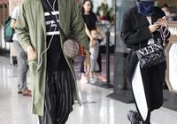 袁成傑潮裝現身機場微笑揮手 陳芊芊全程低頭看手機