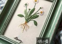 刺繡 | 教你繡出ins風十足的小雛菊裝飾畫