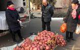 山西農家小媳婦 開貨車去山東拉了一車蔬菜在集市上賣 兩天賺千元