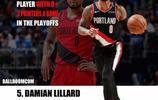 NBA現役季後賽單場8記三分的九位球員,庫裡第二,榜首包攬前三