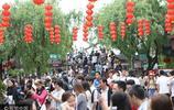 五一假日 上海千年古鎮七寶老街遊人如織