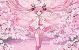 同人圖:初音未來為櫻花節應援,美如公主殿下