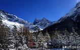 藏藍四姑娘山