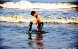夏季高溫下 避暑旅遊的好去處 青島金沙灘 可以洗海澡 享受大海的清涼