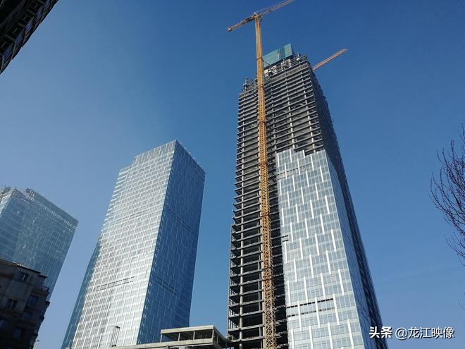 江畔建起哈市最高樓,將成為地標性建築