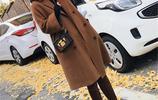 大衣顏色別選太深,瞧瞧韓國女人這樣穿,盡顯素雅女神範,美哭了