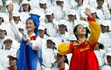 來自朝鮮的啦啦隊,充滿朝鮮風情