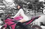 越南高顏值女生喜愛炫酷摩托車走紅,網友:本人比摩托車漂亮太多