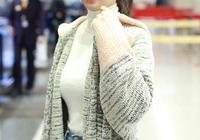 沈夢辰的齊劉海真清純,白色高領毛衣盡顯好氣質,杜海濤真有眼光