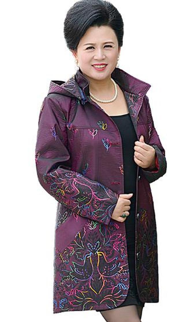 XXXXXXXL大碼中老年媽媽穿秋裝外套,優雅洋氣倍顯年輕