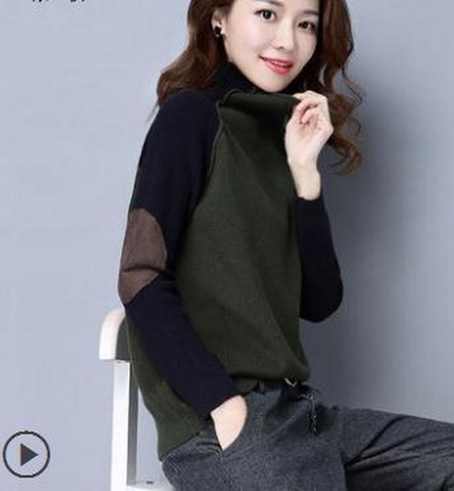 冬天出門高領毛衣+中長款毛呢外套,擋風禦寒顯氣質,秋季必備之選