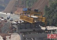 邵武316國道改線工程架設最後一座大橋