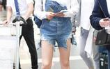 演繹初夏清甜少女風 還差一條宋茜的揹帶短褲,但請注意穿搭方式