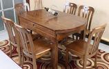 水曲柳餐桌,比紅木便宜,比實木高檔,居家吃飯有品味