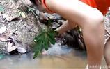 農村媳婦下河抓田雞,看得我熱血沸騰!真想去幫她一把!