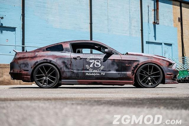 福特野馬——鐵鏽貼膜改色