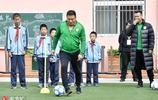 暖暖的!前國安隊員楊璞、徐雲龍助力平安足球公益支教