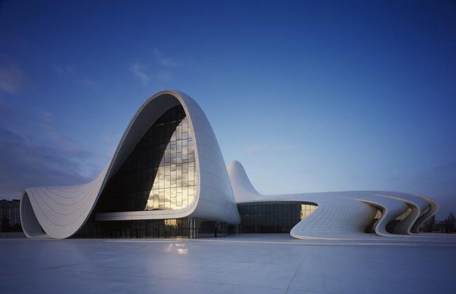 風景圖集:阿塞拜疆,巴庫,阿利耶夫文化中心