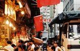 老照片:1997年香港迴歸前夕,大街小巷插滿中國國旗