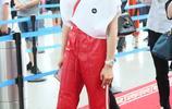 宋茜白衣紅褲機場獲眾粉絲送機人氣旺 黑超遮面頻撩秀髮氣場足