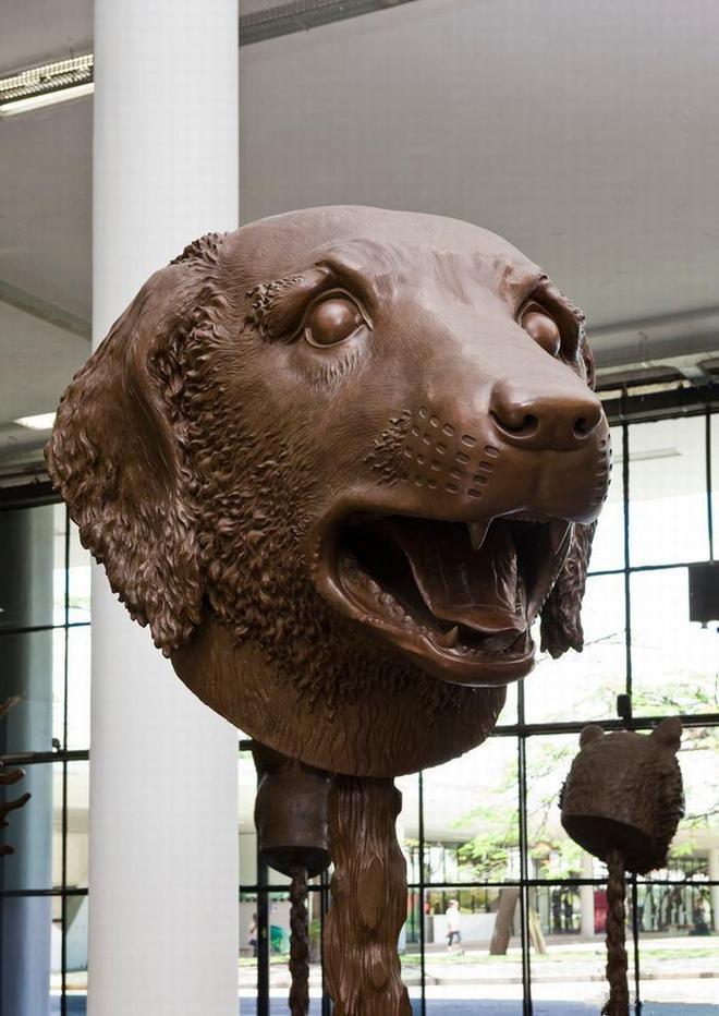 艾未未十二生肖青銅雕塑作品